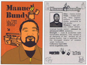 Manuel Bundy Ultrasound card - part of a series.